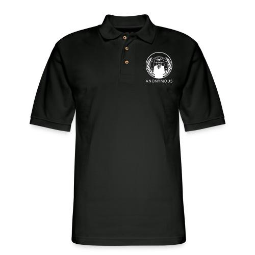Anonymous 1 - White - Men's Pique Polo Shirt
