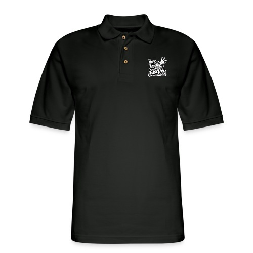 Good, Bad, Backlog - OG Logo white text - Men's Pique Polo Shirt