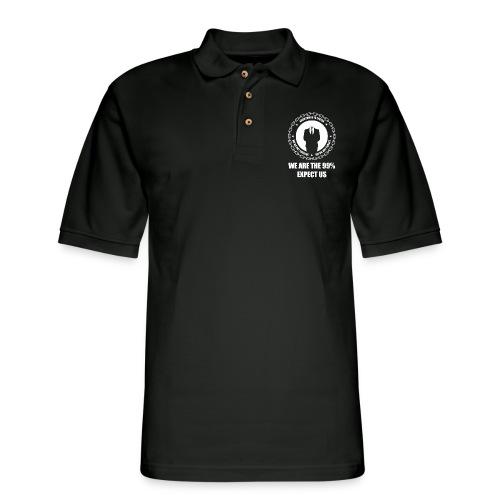 Anonymous 6 White - Men's Pique Polo Shirt