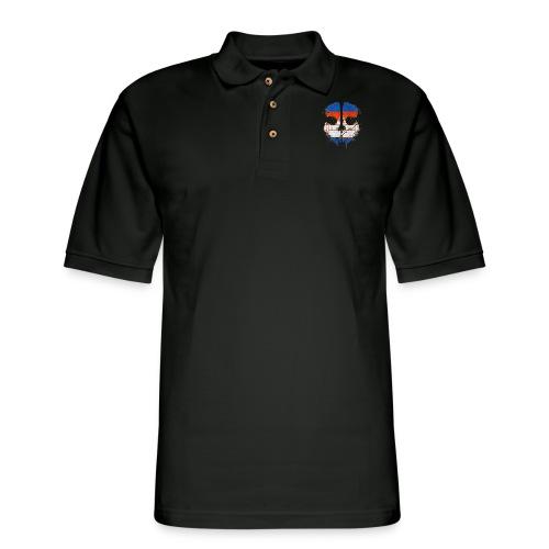 Khmer Ghost - Men's Pique Polo Shirt