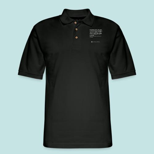 Noobicide (white) - Men's Pique Polo Shirt