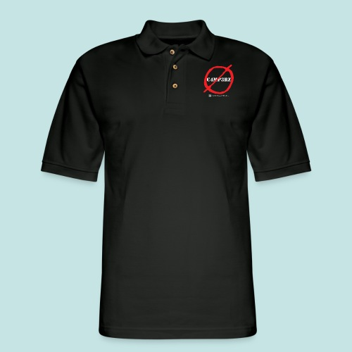 No Campers (white) - Men's Pique Polo Shirt