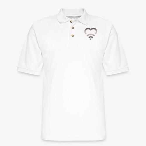 I Heart Wifi IPhone Case - Men's Pique Polo Shirt