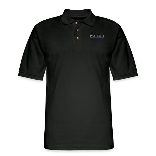 PATRIOT_USA_LOGO_2_reverse - Men's Pique Polo Shirt