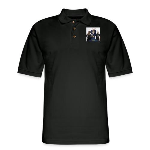 Mantis and the Prayer- Pyramid Design for kids - Men's Pique Polo Shirt