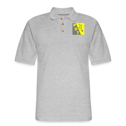 PDT Logo - Men's Pique Polo Shirt