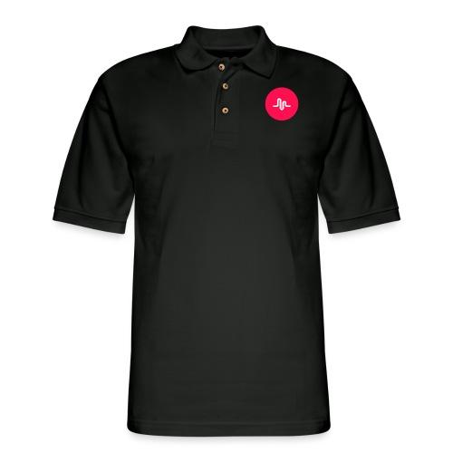 Musical.ly logo - Men's Pique Polo Shirt