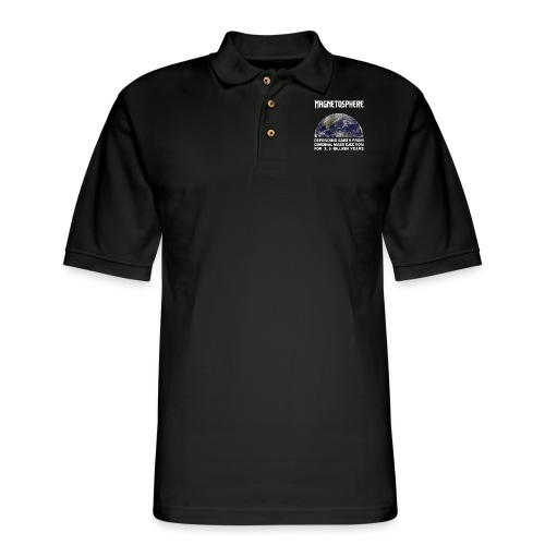 Magnetosphere Defending from Coronal Mass Ejection - Men's Pique Polo Shirt