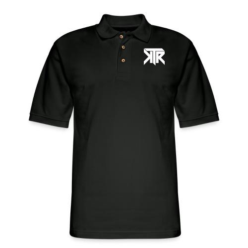 KTR Logo White - Men's Pique Polo Shirt
