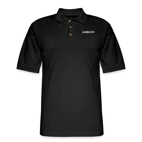 DiaBoss (White) - Men's Pique Polo Shirt