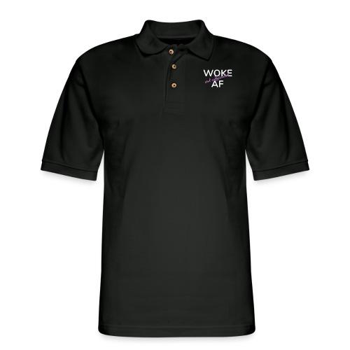 Woke & Caffeinated AF - Men's Pique Polo Shirt