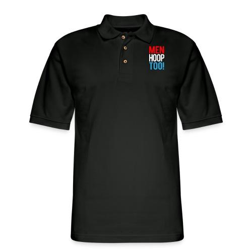 Red, White & Blue ---- Men Hoop Too! - Men's Pique Polo Shirt