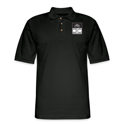 Every Lane is a Bike Lane - Men's Pique Polo Shirt