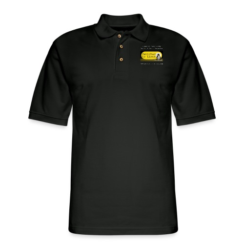 Switched To Linux Logo and White Text - Men's Pique Polo Shirt