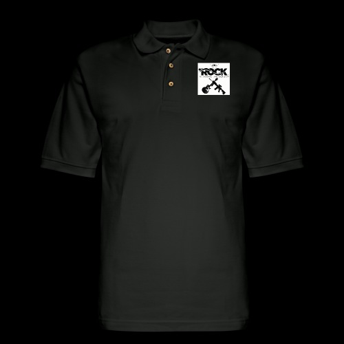 Eye Rock & Support The Troops - Men's Pique Polo Shirt