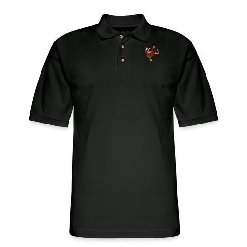 ChickenLover Box Logo T-shirt - Men's Pique Polo Shirt
