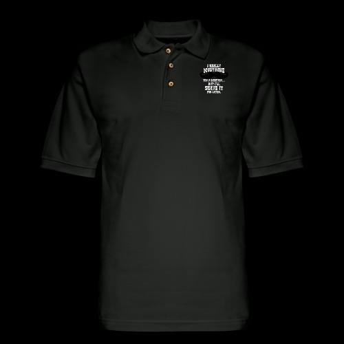 Mustache Pun - Men's Pique Polo Shirt