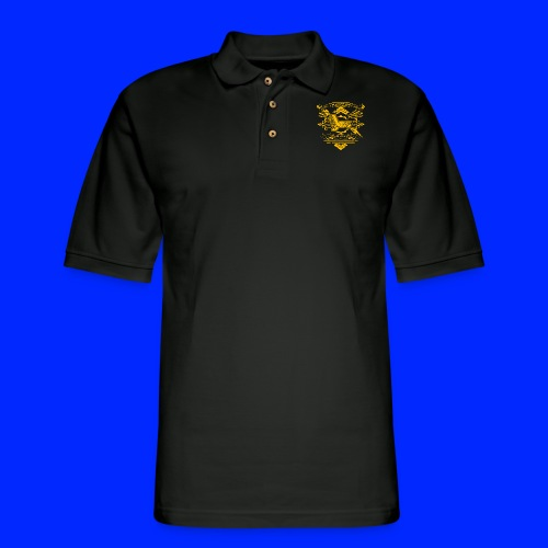 Vintage Leet Sauce Studios Crest Gold - Men's Pique Polo Shirt