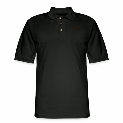 Too Tired Shirt - Men's Pique Polo Shirt