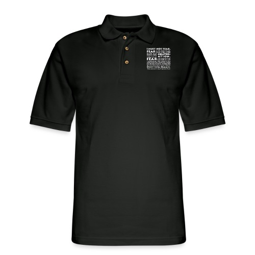 Litany Against Fear - Men's Pique Polo Shirt