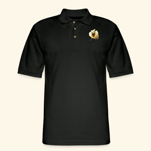 oil dog - Men's Pique Polo Shirt