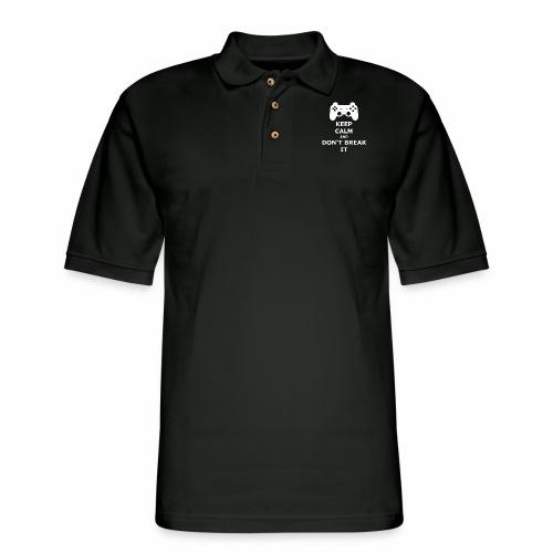 Keep Calm and don't break your game controller - Men's Pique Polo Shirt
