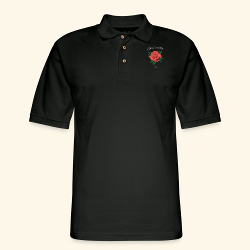 Rose LOGO - Men's Pique Polo Shirt