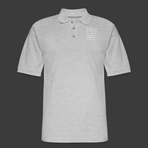 White Include List - Men's Pique Polo Shirt