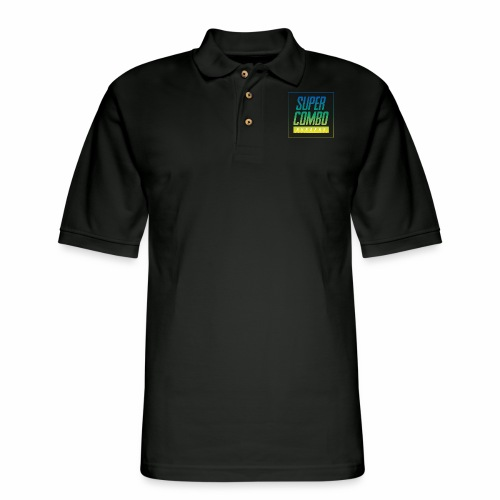 Super Combo Logo - Men's Pique Polo Shirt