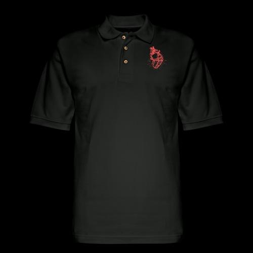 Hand Sketched Heart - Men's Pique Polo Shirt