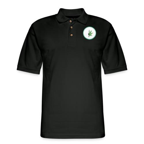 iCannGreen Logo - Men's Pique Polo Shirt