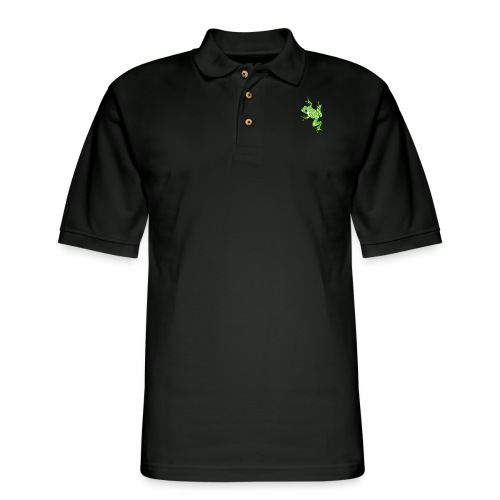 Anglo-Saxon Frog - Men's Pique Polo Shirt