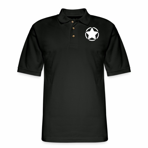Staff starr 5pt white 14 16 - Men's Pique Polo Shirt