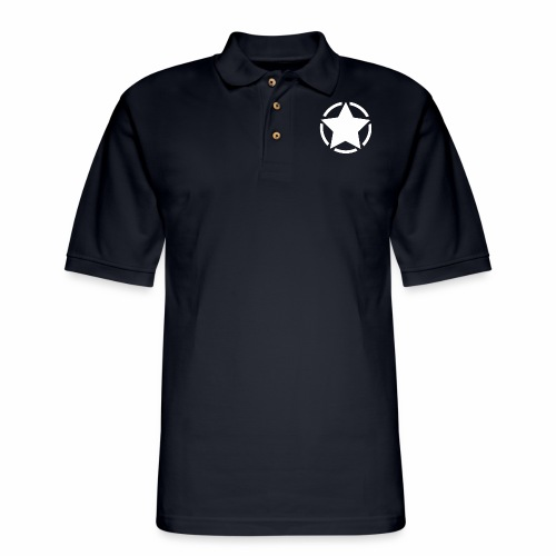 Staff starr 5pt white 14 16 - Men's Pique Polo Shirt