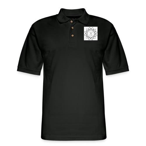 I Teach Tiny Humans Grey Overlay - Men's Pique Polo Shirt