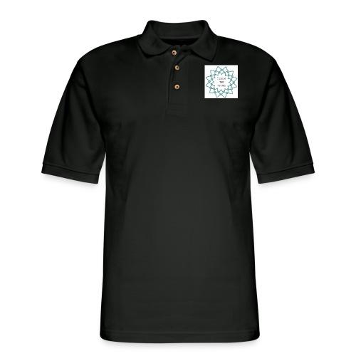 I Teach Tiny Humans Teal Blue Overlay - Men's Pique Polo Shirt