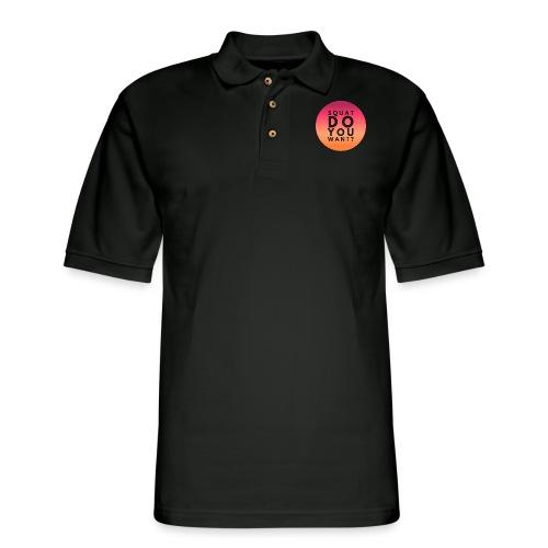 Squat Do You Want? - Men's Pique Polo Shirt