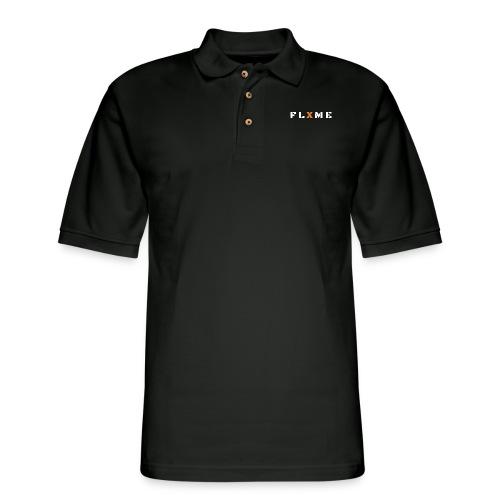 White FLXME - Men's Pique Polo Shirt