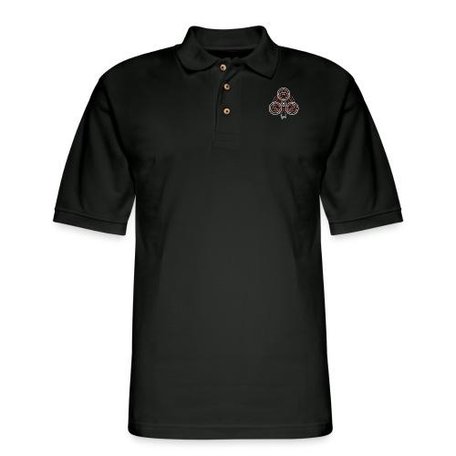 Igni Fire Element Alchemy Diagram - Men's Pique Polo Shirt