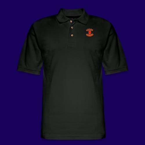 ChaosNConquer Minimalist Logo Print - Men's Pique Polo Shirt