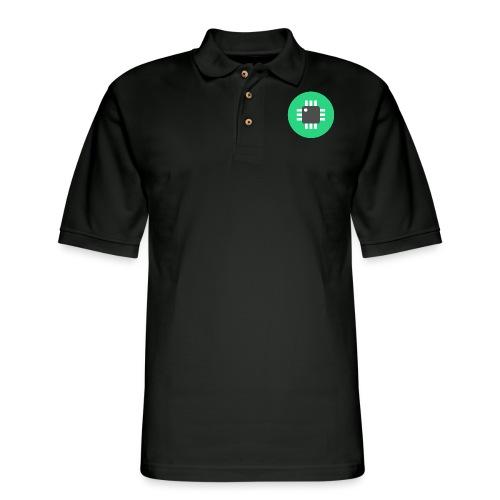 Logo-Only - Men's Pique Polo Shirt