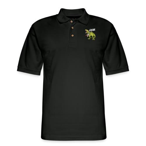 JOOSE T Rex white - Men's Pique Polo Shirt