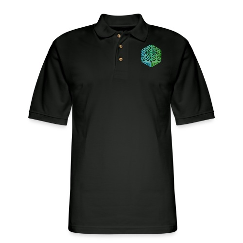 Green Leaf Geek Iconic Logo - Men's Pique Polo Shirt