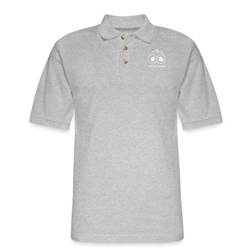 Pikes Peak Gamers Logo (Transparent White) - Men's Pique Polo Shirt