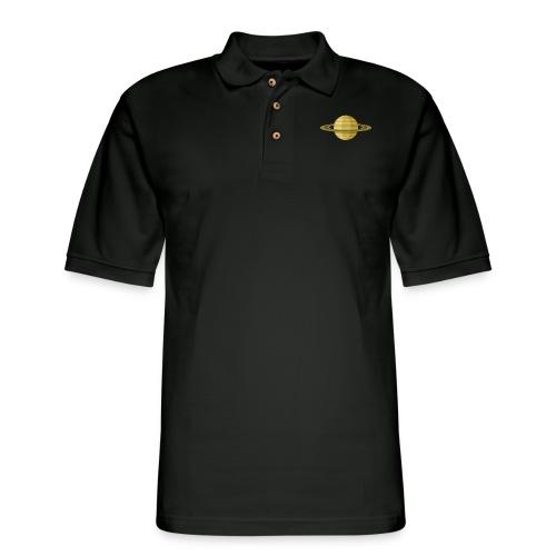 Planet Saturn - Men's Pique Polo Shirt