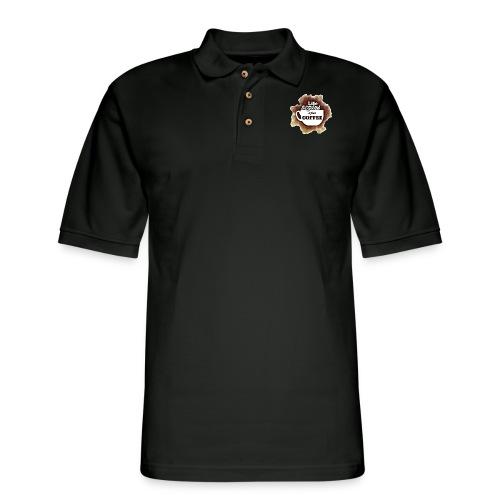 Life begins With Coffee - Men's Pique Polo Shirt