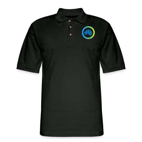 Gradient Symbol Only - Men's Pique Polo Shirt