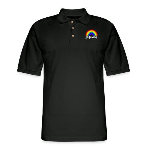 Be Yourself Pride Tee - Men's Pique Polo Shirt