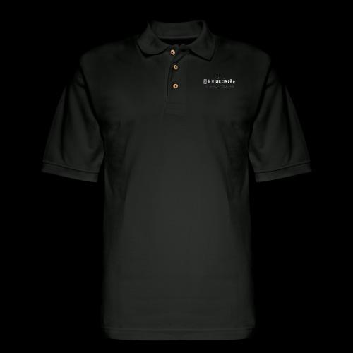 Black Serialholic Logo - Men's Pique Polo Shirt