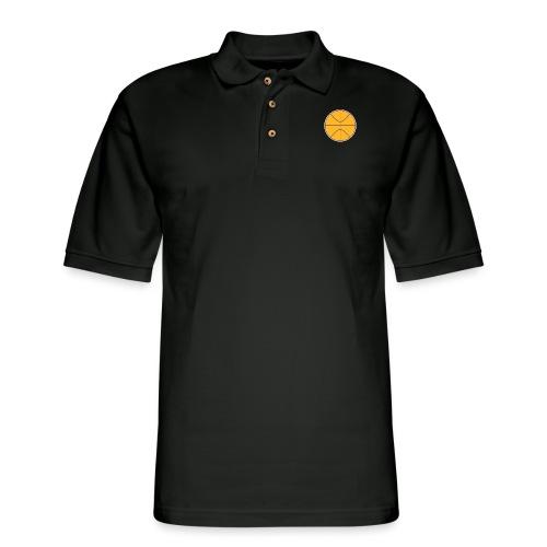 Basketball purple and gold - Men's Pique Polo Shirt